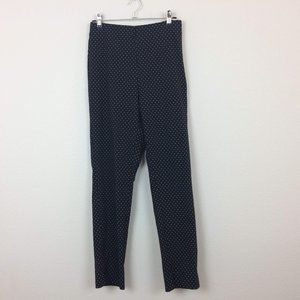 Who What Wear Polka Dot Stretch Skinny Ankle Pants
